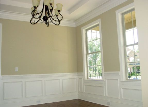 Wainscoting under window They have pre made panels at Lowe