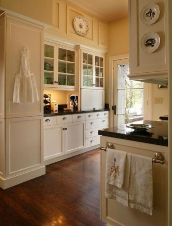Andie MacDowells Storybook Tudor  Appliance garage