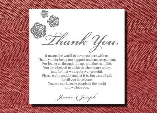 Gift Quotes For Wedding Invitations : Thank You Words For Wedding Invitation