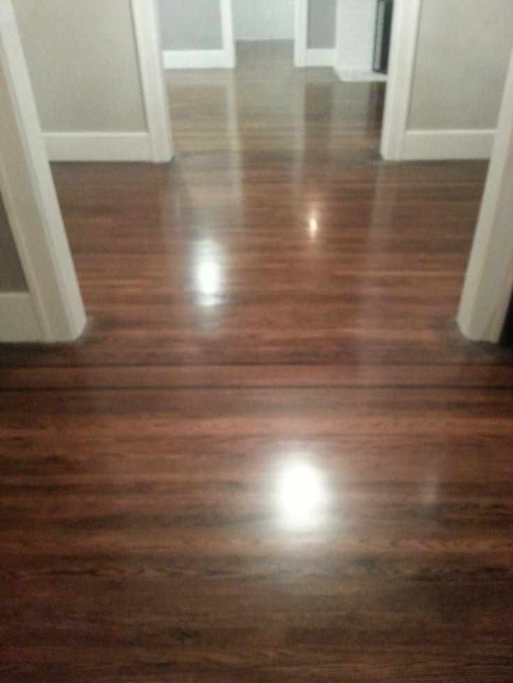 DIY refinishing hardwood floors Ebonyred mahogany mix on