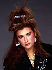 demi moore with crimped hair