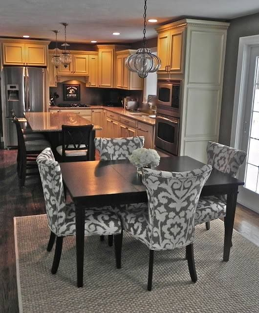 small scale upholstered dining chairs folding tables and set best 20+ kitchen combo ideas on pinterest | family room combo, chandelier ...