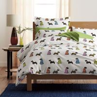 Dog Parade Flannel Sheets & Bedding Set | The Company ...