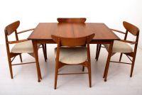 Mid Century Danish Modern Sculptural Walnut Dining Table ...