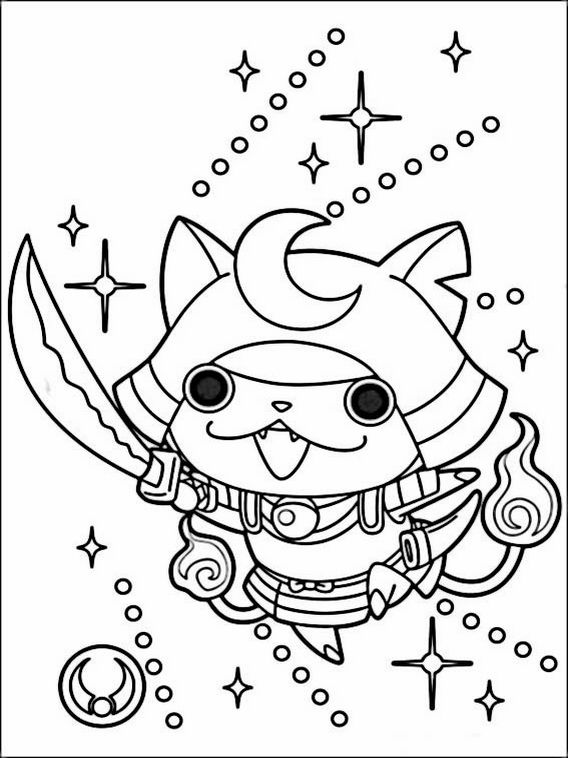 dibujos para colorear yokai watch 7  cosas que ponerse