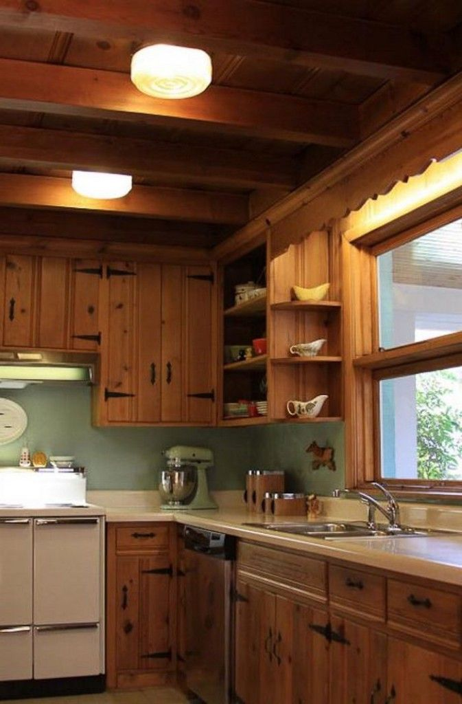 Knotty Pine Kitchen Cabinet Makeover  Cabinets Matttroy