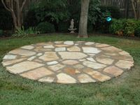 River Rock Patio | Rock path and terracing with Asian ...
