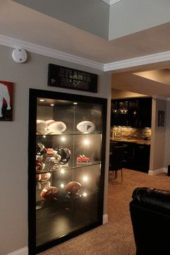 Sports Memorabilia Basement Houzz Home Design Decorating And