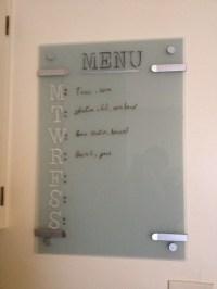 Glass ikea KLUDD whiteboard. Painted behind the whiteboard ...