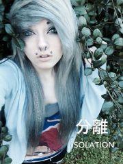 scene girl silver hair silencexsamxcyanide