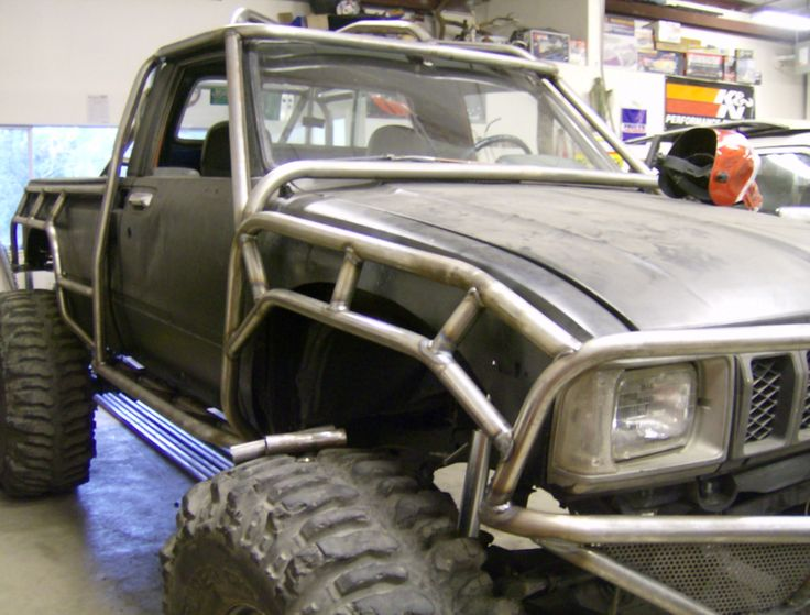 outer roll cage by flex point off road  Toyota pickups  Pinterest  Toyota Design and Shops