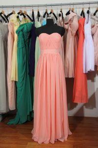 Peach Pink Bridesmaid Dress, Long Peach Pink Convertible ...