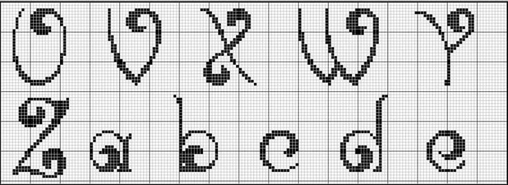 1000+ images about Cross stitch letters on Pinterest