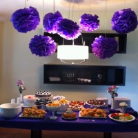 Purple Bridal Shower. Want to hang tissue balls like this ...