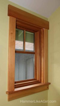 Decorative Window Trim Interior. Craftsman Windows And