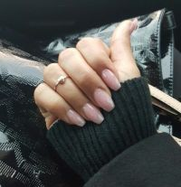 Pink coffin nails #pinkpowder #overlay #natural #simple ...
