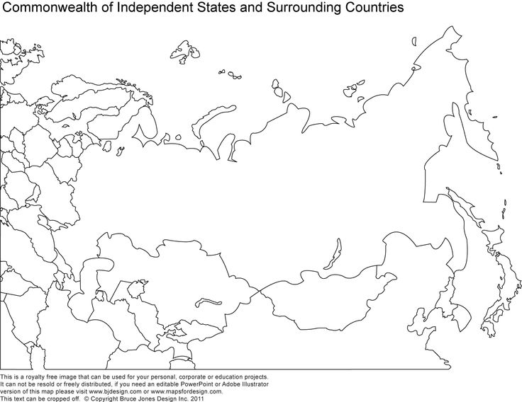 Russia, Asia, Central Asia printable blank maps, royalty