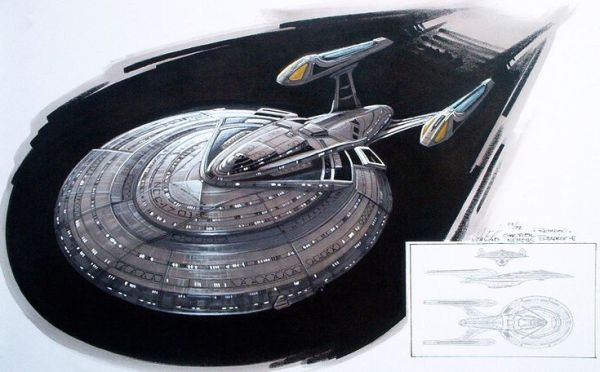 Enterprise E concept art John Eaves Concept art