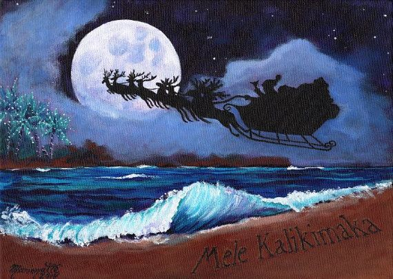 Mele Kalikimaka Hawaiian Printable DIY Christmas Card 5x7