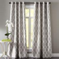 Moorish Tile Gray Grommet Curtain | The floor, Patterns ...