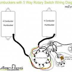Hsh Wiring Diagram Charlotte Doyle Ship 2 Humbuckers With 5 Way Rotary Switch   Guitar Tech Pinterest