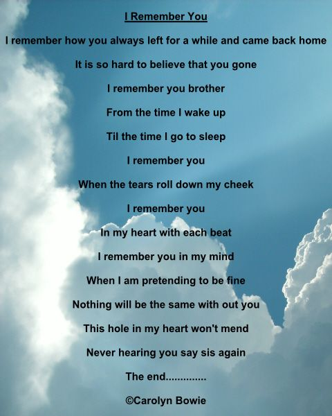 Quotes My Dead Missing Brother