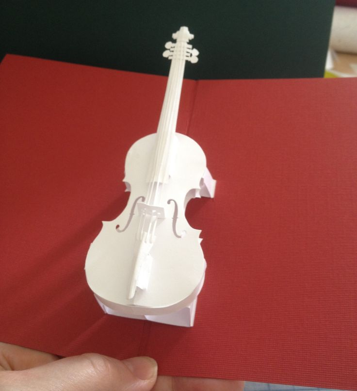 Violin Pop Up Card Template From Hiroko Ebook Nana