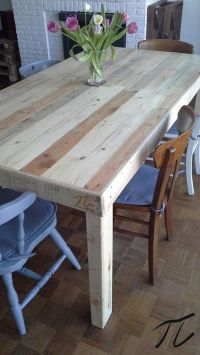 17 best ideas about Pallet Dining Tables on Pinterest