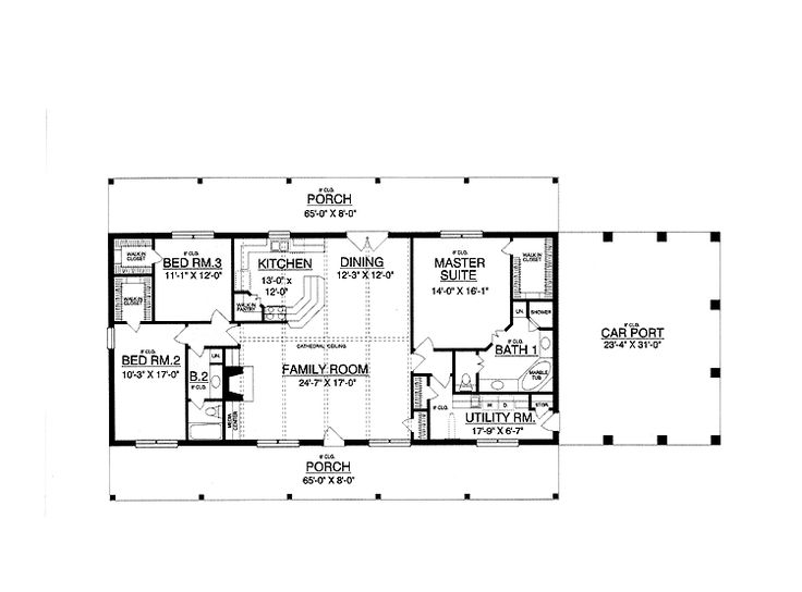 30x50 Rectangle House Plans Expansive One Story I Would
