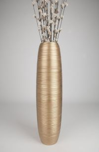 Gold Tall Floor Vase 36 Inches, Wood, Gold - Leewadee $139 ...