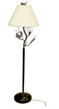 Birds and Berries twig tree Branch Accent Metal Floor Lamp ...