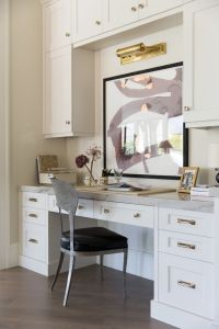 Home Office with built in desk and cabinets | Office ...