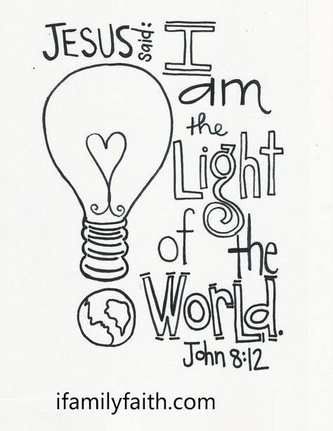 JESUS is the Light of the World. amen. ifamilyfaith.com