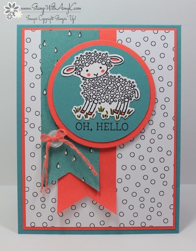 Easter Lamb Stamp With Amy K 2016 Stampin Up