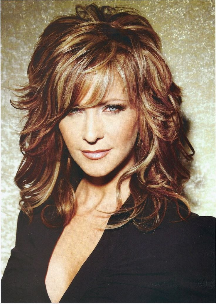 medium length hairstyles with bangs for women over 50  Google Search  hairstyles  Pinterest