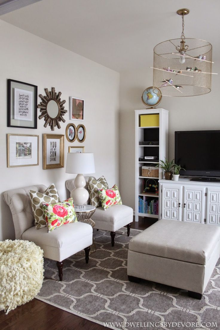 Playroom and DIY birdcage light  Dwellings by DeVore  Pinterest  Rigs Velvet and Living rooms