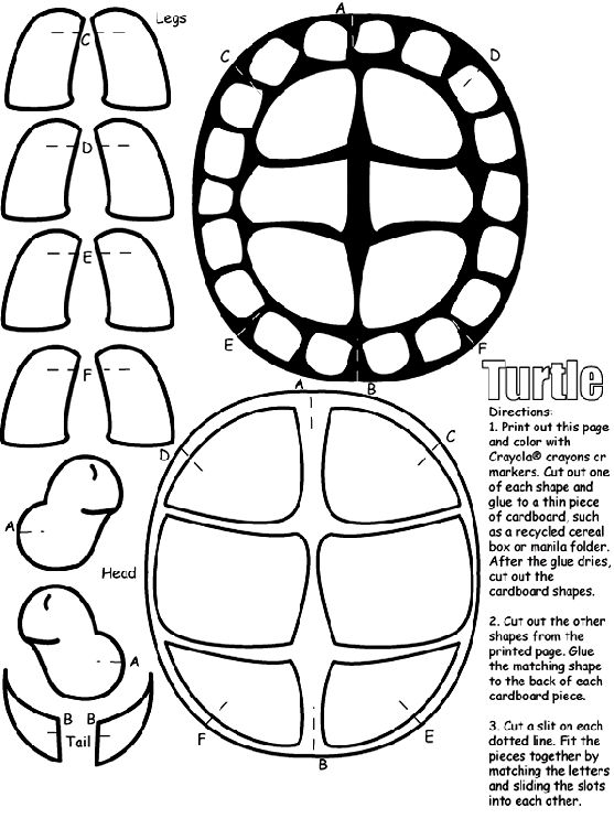Color and cut out the pieces on this coloring page, then
