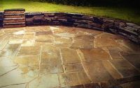 Sunken Stone Patio & Retaining Wall in Shaker Hts., OH ...