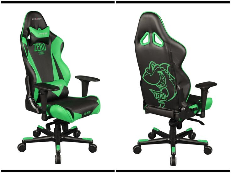 Racing chair black and green colorracingrazerrace