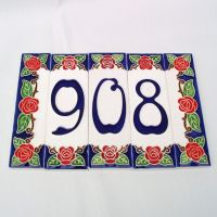 Outdoor House Numbers, Home Address, Ceramic Tiles ...
