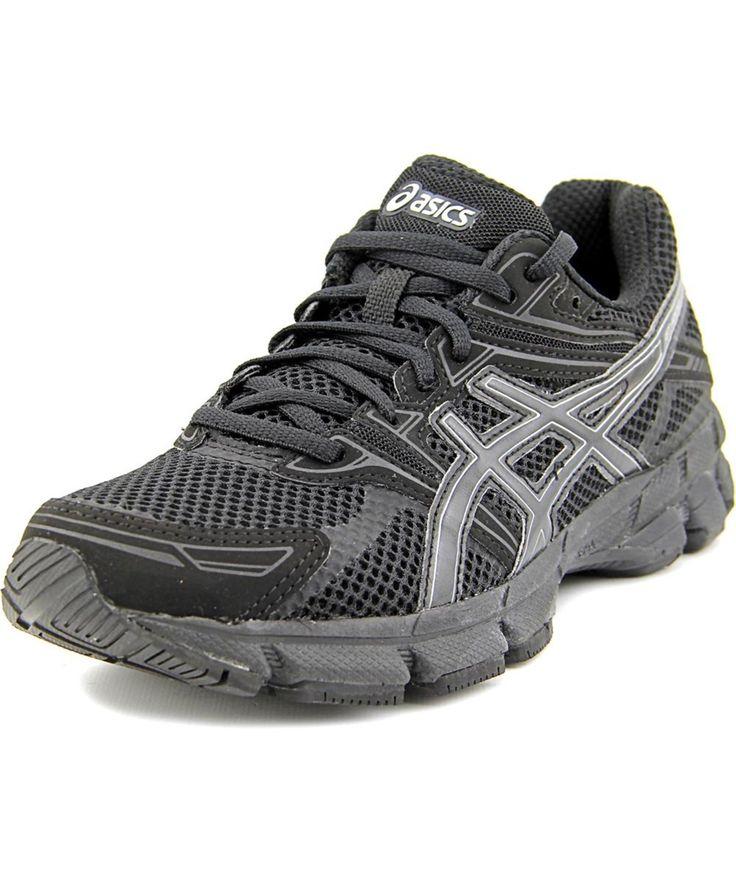 asics asics gt gs women d round toe synthetic black running shoe