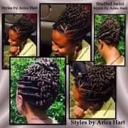 stuffed twist hairstyles - follow