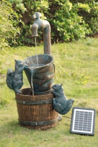Solar Powered Squirrel Water Feature | Solar Powered Water ...