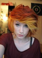 indie scene hair. love color