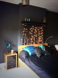 Black, gold and teal bedroom   bedroom   Pinterest   Head ...