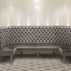 Grey Lounge Chair Upside Down Hanging Banquette | Dining Room Settee Pinterest Commercial, Entrance And Banquettes