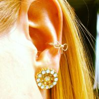 Conch piercing with bow cuff earring! | Style | Pinterest ...