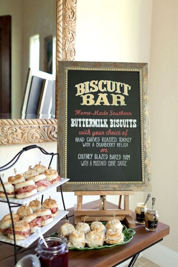 Creative food stations for your reception the newport bride for Food at bar 38