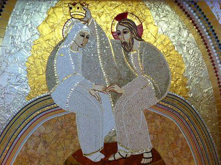 Lincoronazione Della Vergine Mosaici Ivan Rupnik