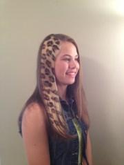 leopard print hair